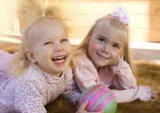 κορίτσια λίγα δύο Στοκ Φωτογραφία