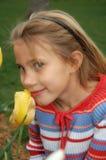 κορίτσια λουλουδιών Στοκ Εικόνες