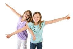 Κορίτσια με τους αντίχειρες επάνω Στοκ Εικόνα