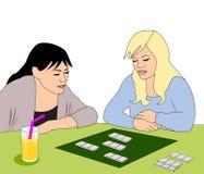Κορίτσια με το επιτραπέζιο παιχνίδι Στοκ Εικόνες