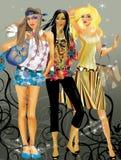 κορίτσια μόδας Στοκ εικόνα με δικαίωμα ελεύθερης χρήσης