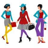 κορίτσια μόδας Στοκ Εικόνα