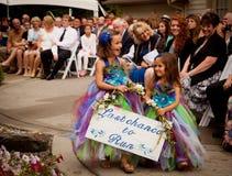 Κορίτσια λουλουδιών στο γάμο Στοκ Εικόνες