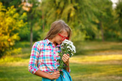 κορίτσια λουλουδιών Στοκ εικόνα με δικαίωμα ελεύθερης χρήσης