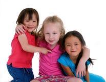 κορίτσια παιδικής ηλικία& στοκ φωτογραφία με δικαίωμα ελεύθερης χρήσης