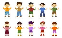 κορίτσια παιδιών αγοριών ελεύθερη απεικόνιση δικαιώματος