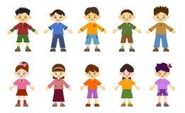 κορίτσια παιδιών αγοριών διανυσματική απεικόνιση