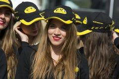 Κορίτσια παρόδων κοιλωμάτων Στοκ φωτογραφία με δικαίωμα ελεύθερης χρήσης