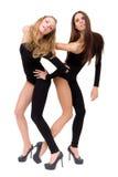 κορίτσια που θέτουν προ&kapp Στοκ Φωτογραφίες