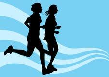 κορίτσια που τρέχουν δύο απεικόνιση αποθεμάτων