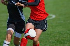 Κορίτσια ποδοσφαίρου Στοκ Εικόνες
