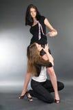 κορίτσια προκλητικά δύο Στοκ εικόνα με δικαίωμα ελεύθερης χρήσης