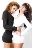κορίτσια προκλητικά δύο Στοκ φωτογραφία με δικαίωμα ελεύθερης χρήσης