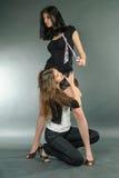 κορίτσια προκλητικά δύο Στοκ Εικόνα