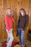 κορίτσια σιταποθηκών σο&be Στοκ Φωτογραφίες