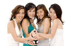 Κορίτσια συμβαλλόμενου μέρους στοκ εικόνα με δικαίωμα ελεύθερης χρήσης