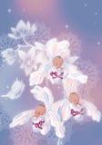κορίτσια τρία μωρών Στοκ εικόνες με δικαίωμα ελεύθερης χρήσης