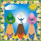 κορίτσια τρία Στοκ φωτογραφίες με δικαίωμα ελεύθερης χρήσης