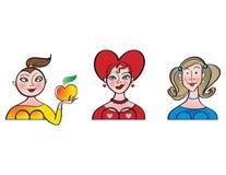 κορίτσια τρία απεικόνιση αποθεμάτων