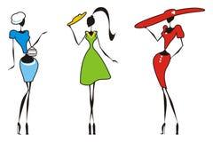 κορίτσια τσαντών siluet ελεύθερη απεικόνιση δικαιώματος