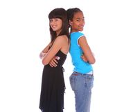 κορίτσια φίλων Στοκ Φωτογραφία