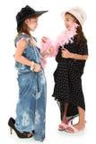 κορίτσια φορεμάτων επάνω Στοκ φωτογραφία με δικαίωμα ελεύθερης χρήσης