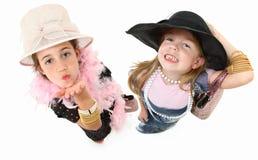 κορίτσια φορεμάτων επάνω Στοκ Φωτογραφία