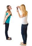 κορίτσια φωτογραφικών μηχ στοκ εικόνα με δικαίωμα ελεύθερης χρήσης