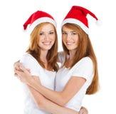 κορίτσια Χριστουγέννων Στοκ εικόνες με δικαίωμα ελεύθερης χρήσης