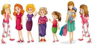 Κορίτσια όλων των ηλικιών ελεύθερη απεικόνιση δικαιώματος