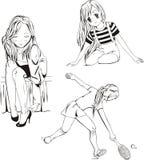 Κορίτσια Anime Στοκ Εικόνες