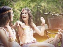 Κορίτσια Boho Στοκ Εικόνες