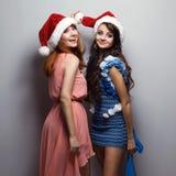Κορίτσια Cristmas Στοκ Εικόνες