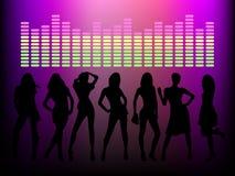 κορίτσια disco Στοκ φωτογραφία με δικαίωμα ελεύθερης χρήσης