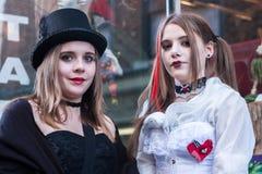 Κορίτσια Goth Whitby Στοκ φωτογραφία με δικαίωμα ελεύθερης χρήσης