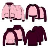 Κορίτσια hoodies Χρώμα Στοκ εικόνες με δικαίωμα ελεύθερης χρήσης