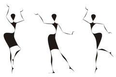κορίτσια siluets ελεύθερη απεικόνιση δικαιώματος