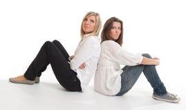 Κορίτσια Sulking Στοκ εικόνες με δικαίωμα ελεύθερης χρήσης