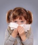 κορίτσι άρρωστο λίγα Στοκ Φωτογραφίες