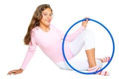 κορίτσι άσκησης λίγα στοκ φωτογραφίες