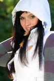 κορίτσι έκφρασης φθινοπώρ&o Στοκ Εικόνες