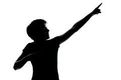 κορίτσι ένα αγοριών νεολαίες εφήβων σκιαγραφιών Στοκ Εικόνες