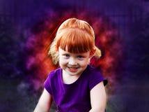 Κορίτσι - ένα ηφαίστειο Στοκ φωτογραφίες με δικαίωμα ελεύθερης χρήσης