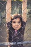 κορίτσι έξω από τις παίζοντα Στοκ φωτογραφία με δικαίωμα ελεύθερης χρήσης