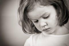 κορίτσι λίγα λυπημένα Στοκ Φωτογραφία