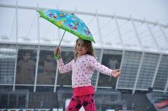 κορίτσι λίγη ομπρέλα Στοκ Εικόνα