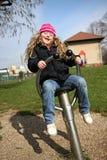 κορίτσι λίγη παιδική χαρά Στοκ εικόνα με δικαίωμα ελεύθερης χρήσης