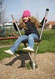 κορίτσι λίγη παιδική χαρά Στοκ Εικόνα