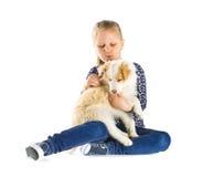 κορίτσι λίγο κουτάβι Στοκ Φωτογραφία