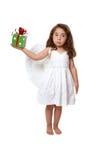 κορίτσι αγγέλου που κρ&alph Στοκ φωτογραφία με δικαίωμα ελεύθερης χρήσης